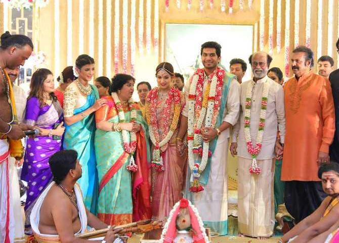 rajini daugher marriage