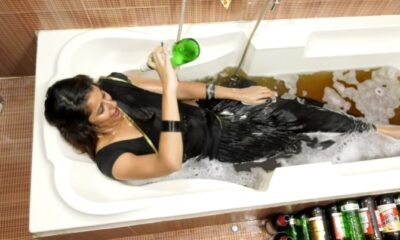 shravya-reddy-beer-bath