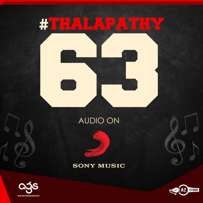 thalapathy 63 music rights