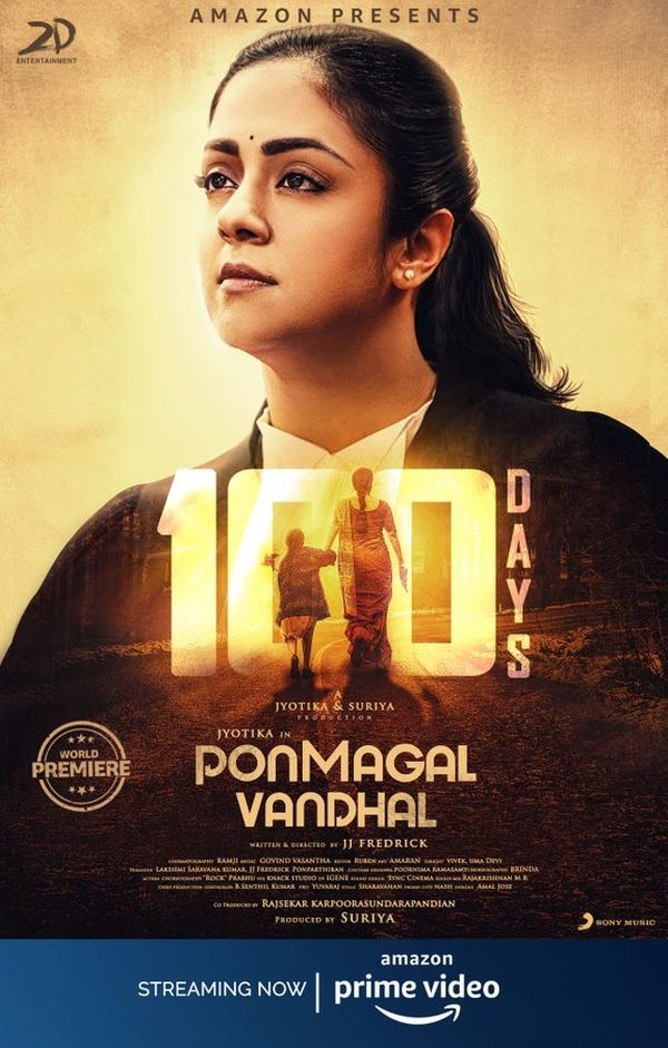 ponmagal-vandhal-100days-poster